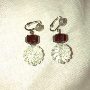Vintage Sarah Coventry clip on earrings silver ton